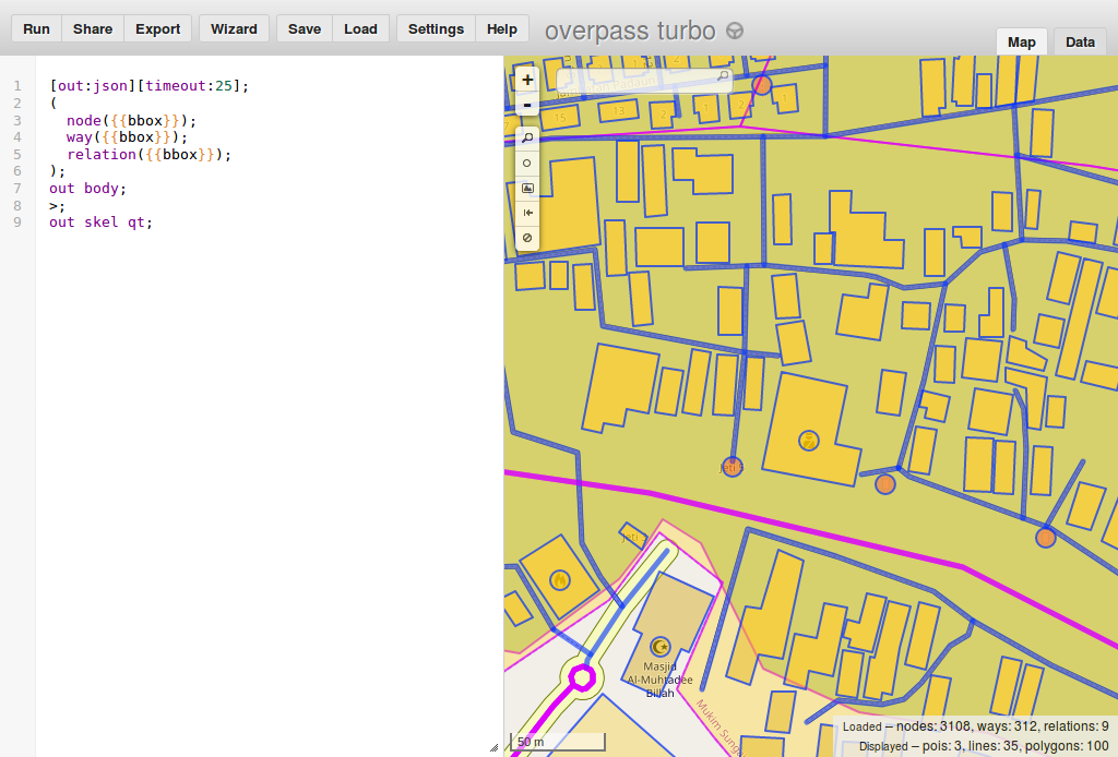 Geographic data mining and visualisation for beginners - Overpass